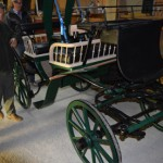 Korbwagen während der Restaurierung